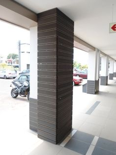 These beautiful Aruna screens were used to hide pipes and fire hoses at a shopping centre in Bryanston.