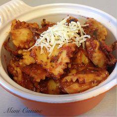 Ravioli au fromage sauce tomate basilic by Cookeo - Mimi Cuisine
