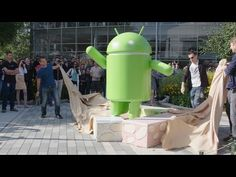 Android Nougat Statue Unwrapping | Blogue alien's & android's