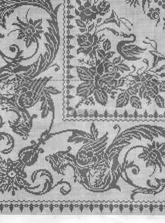 Филейное вязание крючком. Схемы. - Женская одежда крючком. Схемы и описание