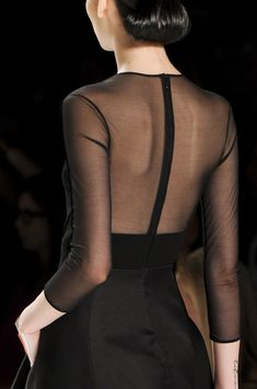 Sheer black back courtesy of Chado Ralph Rucci (spring 2013).