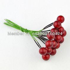 Бестселлер! Искусственный мини красная ягода с уплотнением главная украсить аксессуары для DIY и рукоделие 100 шт./лот 4 размера