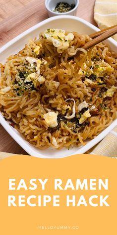 Easy Noodle Recipes, Quick Food Recipes, Top Ramen Recipes, Healthy Recipes, Meal Recipes, Lunch Recipes, Easy Dinner Recipes, Yummy Recipes, Vegetarian Recipes