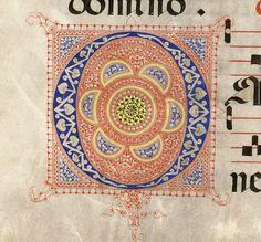 Iniziale O autore: Calligrafo fiorentino (bottega del Torelli?) tecnica: inchiostro e penna