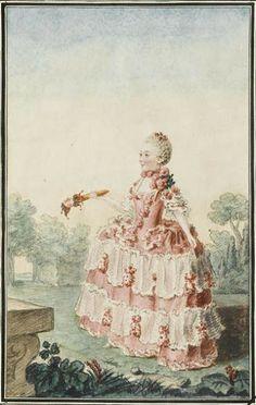 """Mademoiselle de Frontville"" by Louis Caroggis Carmontelle (1759)"