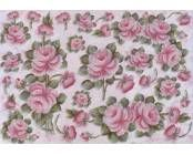 PD1-015 PAPEL DECOUPAGE 49X34,3  ROSAS TALLO