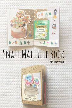 Easy DIY Flipbook tutorial - Snail Mail Penpal Ideas Snail Mail ideas Hand embossed cards make a nice gift for your pen pal Pen Pal Letters, Pocket Letters, Letters Ideas, Snail Mail Pen Pals, Snail Mail Gifts, Fun Mail, Wie Macht Man, Envelope Art, Happy Mail