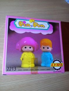 Pin-Y-Pon-Lyra-80s-1984-licence-Famosa-2213-Pair-of-assorted-dolls-pinypon