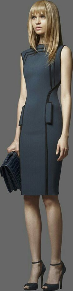 Sharp cut grey dress