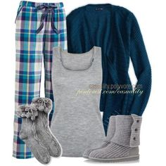 """Pajama Party"" by casuality on Polyvore I would love to have this I would wear it every day"