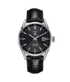 e89668df48430 TAG Heuer Carrera Calibre 7 Twin Time Automatic Watch 100 M - 41 mm WAR2010.