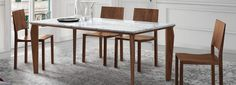 Gioia Dining Table 6 Seater Dining Table, Modern Dining Room Tables, Modern Table, Dining Bench, Carrara, Tapas, Living Room, Furniture, Home Decor