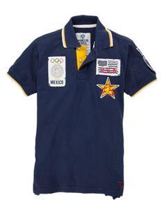 North Sails Poloshirt in Marine mit aufwendiger Stickerei. Polo-t-shirts ea8cf552fc2e0