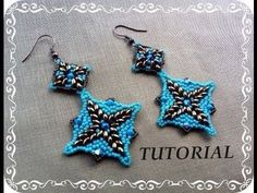 Tutorial: DIY Orecchini  Samarcanda feat Superduo beads :-p ( beads tuto...