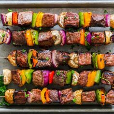 Amazing Shish Kabob Recipe (with Beef) - Momsdish Kabob Recipes, Beef Recipes, Healthy Recipes, Healthy Food, Beef Shish Kabob, Shishkabobs Recipe, Cooking Contest, Grilled Steak Recipes, Ethnic Recipes