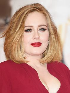 11 Most Flattering Hairstyles for Round Faces: The Lob on Adele.