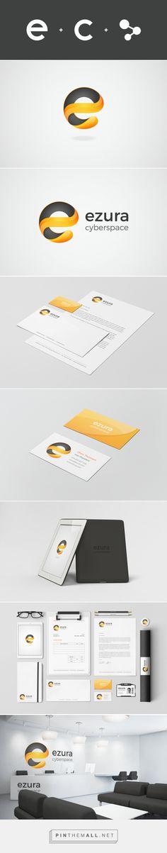 Ezura Cyberspace on Behance - created on Love Design, Ad Design, Graphic Design, Corporate Identity, Visual Identity, Brand Identity Design, Branding Design, Cool Logo, Logo Inspiration