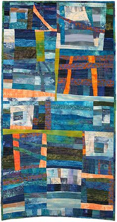 """Always the Sea"" by Julie Mackinder. Art Quilt Category - Contemporary Quilt.  Quilters' Guild of the British Isles.  2013 Festival of Quilts."