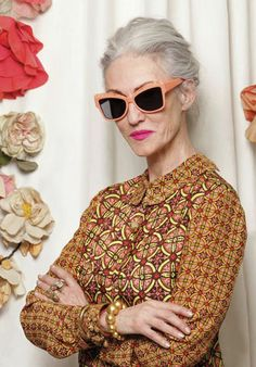 The Spectacular Women of 'Advanced Style' Model for Karen Walker. photos by Ari Seth Cohen