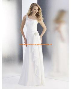 Schlichte Schönste Brautkleider aus Chiffon