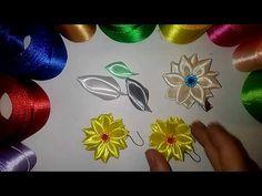 Постой, нежный лепесток Канзаши, мастер класс\ DIY \ サテンリボンの花\ Flower of satin ribbons - YouTube