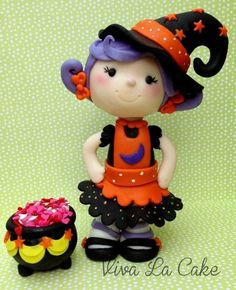 The cutest Witch!!! - by vivalacake @ CakesDecor.com - cake decorating website