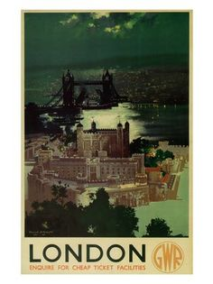 Cool design scrapbook, Vintage rail travel posters