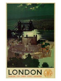 London Railway Poster