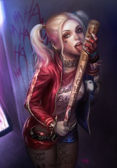 Harley Quinn, Wan Leung on ArtStation at https://www.artstation.com/artwork/dBkxA
