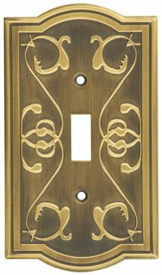 stanley home designs victoria single switch plate antique brass