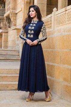 Indian Pakistani Bollywood Bridal Designer Dress New Anarkali Salwar Kameez RV