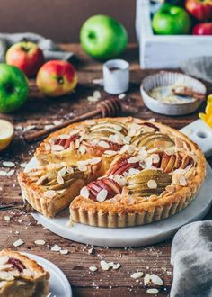 Apple Almond Cake Tart