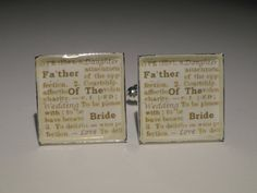 Father of the Bride Wedding Cufflinks by LoudCufflinks on Etsy