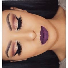 Image via We Heart It #beauty #eyebrows #eyes #fashion #girl #girls #goals #grunge #hair #lips #makeup #pale #purple #style #voguehh