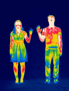 Picture of a thermal image of a man and woman