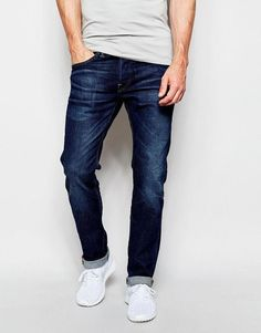 dd000d9e1b186 Edwin Jeans ED-55 Relaxed Tapered CS Night Blue Dark Ruffle Used  MensJeans