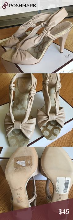 Beautiful NIB Coach heels.  Lovely, never worn, new in box, Coach heeled sandals.  Cute and comfortable. Coach Shoes Heels