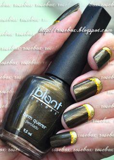 esmalte Blant bem querer + nail art