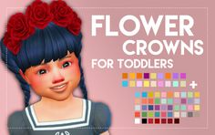 Sims 4 | Flower Crowns for Toddlers #weepingsimmer CAS accessory hat converted base game dotd patch