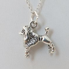 FashionJunkie4Life - Sterling Silver Poodle Charm Necklace. Use coupon code PIN10 for 10% off your entire purchase plus free shipping worldwide!