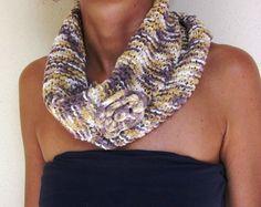 Chunky cowl large neck warmer knitted dress di morenamacrame