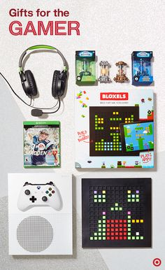 Got video gamers on your Christmas list? These ideas are sure to up your gifting game. Wrap up an Xbox One console, Madden 17 (a top gift this year), a gaming headset, toys-to-life figures like Master Crystals or a make-your-own video game set from Bloxels. It's on! Christmas 2016, Kids Christmas, Christmas Crafts, Gifts For Boys, Gifts For Him, Games For Kids, Activities For Kids, Holiday Fun, Holiday Gifts