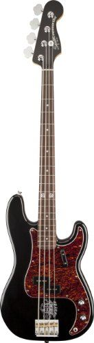 "Squier 0301077506 Eva Gardner Precision Bass Guitar, Right-Hand, Black Reviews $ 549.99 Bass Guitars Product Features A gloss Black finish and matching head cap gives this bass an elegancy unique aesthetic Gardner""s clipper ship tattoo recreated just above the bridge and 12th fret inlay up the level of cool factor Versatile tone provided b .. http://www.guitarhomes.com/squier-0301077506-eva-gardner-precision-bass-guitar-right-hand-black-reviews-6/"