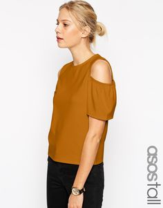 Image 1 ofASOS TALL Top with Cold Shoulder