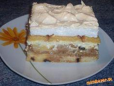 Sviatočná žemľovka Vianočka, 4 vajíčka, 500ml mlieka, 6 PL kr. cukru (do snehu), olej  kokos. Jablkovú plnka: 5 jabĺk, 3 PL kryšt. cukru, vanilkový puding, škorica Tvarohovú plnka: 500g tvaroh, 400ml mlieko,vanil puding, vanil cukor, 3 PL kr. cukru, hrozienka Vymastíme pekáč, vysypeme kokosom, namočená vianočka, jablká, škorica, vrstva vianočky,  tvaroh vrstva vianočky, posypeme prášk cukrom 180°C 20 min neprikryté, (karamel), alobal a pečieme 20 min Vyšľaháme sneh navrstvíme 10 min zapiecť