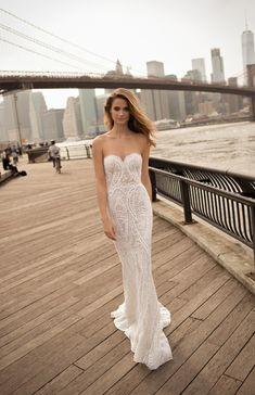 World Exclusive: Berta Wedding Dress Collection 2018 Wedding Dresses South Africa, Wedding Dresses Under 100, Beach Bridal Dresses, Wedding Dresses 2018, Designer Wedding Dresses, Bridal Gowns, Berta Bridal 2018, Outfit Vestidos, Illusion Dress
