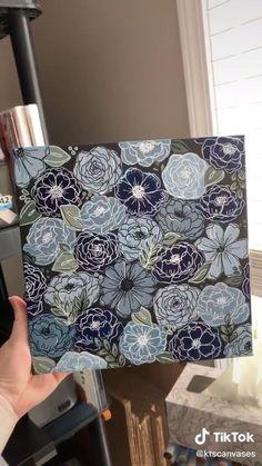 Arte Indie, Art Drawings Sketches Simple, Diy Canvas Art, Diy Painting, Art Tutorials, Diy Art, Flower Art, Watercolor Art, Doodles