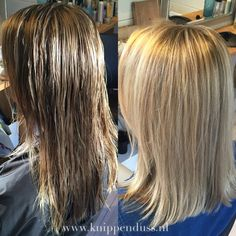 Before & After Color and haircut @knippenduss www.knippenduss.nl