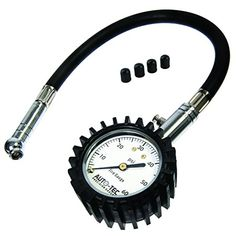 AutoTec Pro Tire Pressure Gauge 60 PSI  Accurate  Heavy Duty Air Pressure Gauge For Car Motorcycle or Truck  4 Free Valve Caps * More info could be found at the image url.Note:It is affiliate link to Amazon.