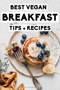 Best Vegan Breakfast, Vegan Breakfast Recipes, Dairy Free Recipes Healthy, Vegan Recipes, Easy Cooking, Cooking Tips, Food Swap, Oatmeal Bars, Vegan Nutrition